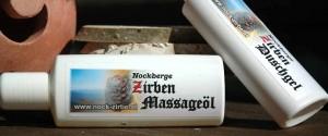 Zart belebendes Massageöl von der Nockzirbe.